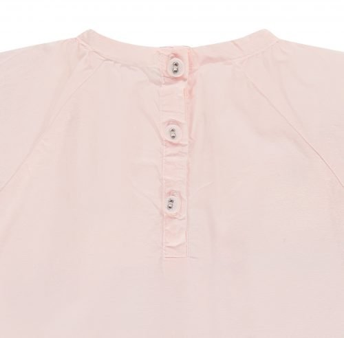 IMPS Elfs jurkje roze organische babykleding ingezoomd
