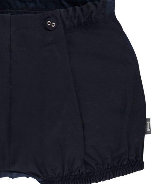 IMPS Elfs short broekje donkerblauw organische babykleding ingezoomd