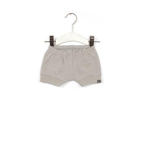 IMPS ELFS short kort Broekje grijs organische babykleding op kledinghanger