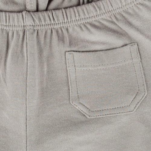 IMPS ELFS short kort Broekje grijs organische babykleding ingezoomd zakje