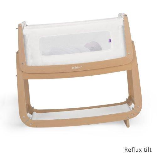 Snüz Natural houtkleur snuzpod 3 co-sleeper stand tegen reflux