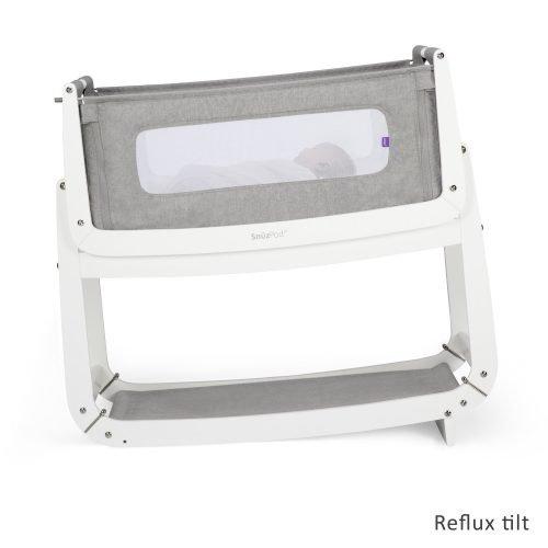 Snüz dusk Grey snuzpod 3 co-sleeper wieg huren tegen reflux