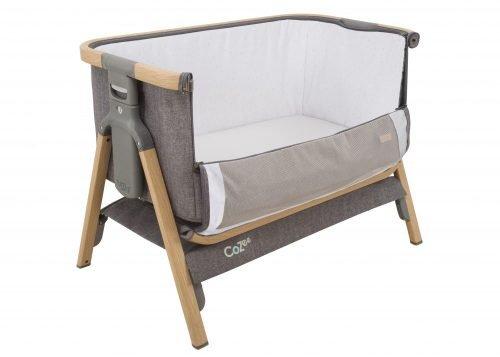 Tutti Bambini CoZee Oak Charcoal open co-sleeper