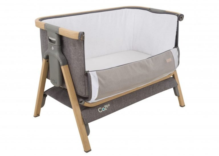 Tutti Bambini CoZee Oak Charcoal open co-sleeper